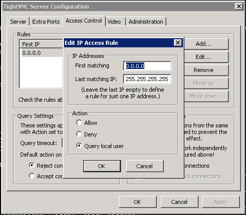 TightVNC Access Rules 2
